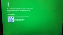 緑色のクラッシュ画面、Windows 10開発版(ビルド14997)に発見。Game Modeなる新機能の痕跡も