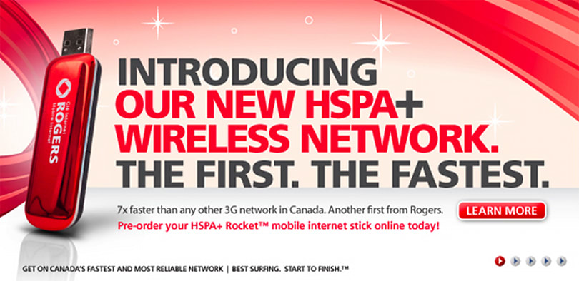 Rogers expands 21Mbps footprint to more towns, HSPA+ Rocket modem available this month