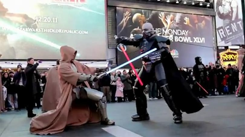 BioWare stages SWTOR freeze mob event in New York City's Times Square