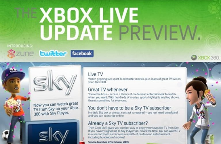 Xbox 360 Dashboard Update... updates: Preview program reopened ...