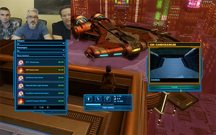 SWTOR stream reveals the secrets of galactic housing