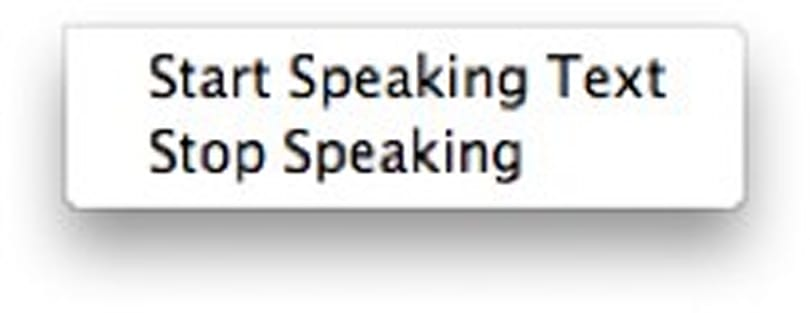 Mac 101: Make any text speak to you