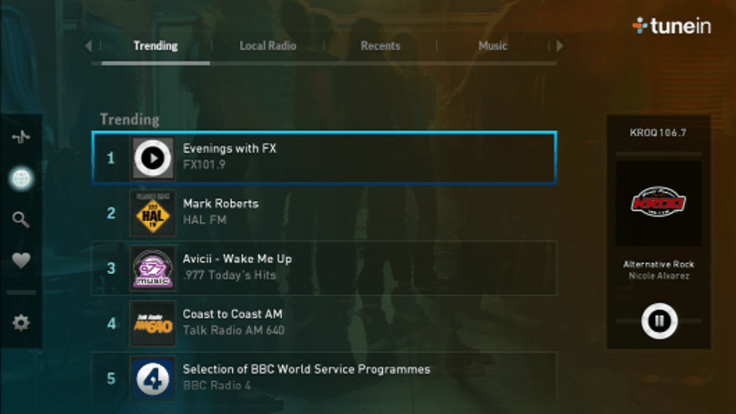 TuneIn radio app available now for PS3, next week for Vita