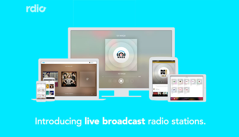 Rdio adds free live radio stations to its streaming library