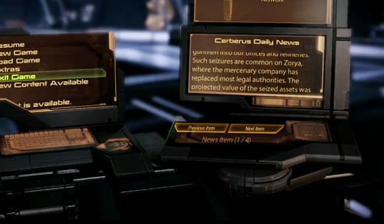 Mass Effect 2's 'Cerberus Daily News' to go on hiatus, pick back up before more DLC