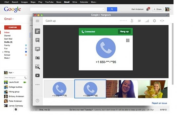 Outbound calls from desktop Gmail are back, with free calling to the US and Canada
