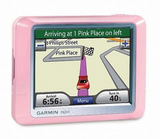 Garmin looses pink nuvi 200 / 250 GPS systems on Europe