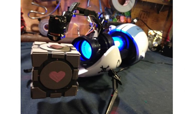 Your Portal gun isn't as cool as Hack-a-Day's Portal gun (which actually levitates a companion cube)
