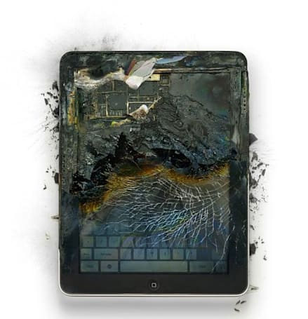 Visualized: Apple's finest products destroyed in the name of art