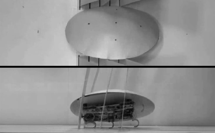 Cockroach-inspired robot can squeeze through tight spaces