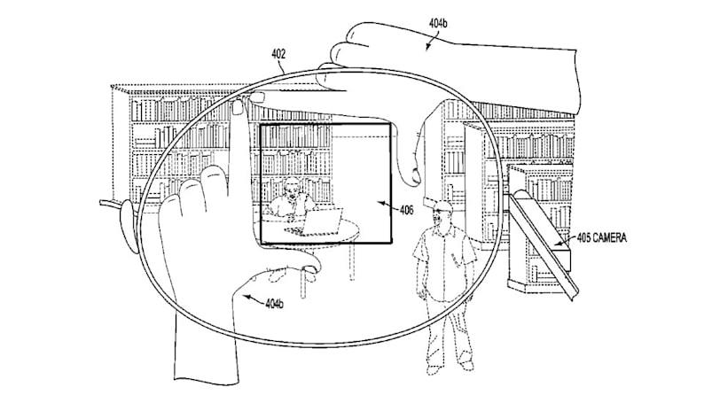 Google patent uses finger frames to snap pics with Glass-like devices