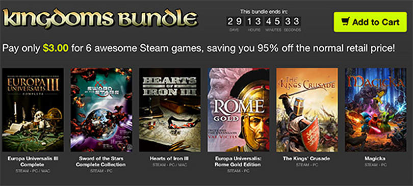 Pick up six strategy games for $3 in Bundle Stars' latest offer