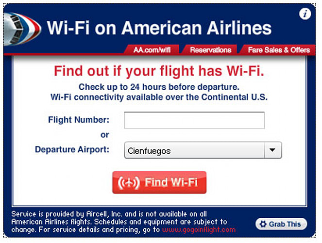 American Airlines Launches Online Widget To Sniff Out Wifi
