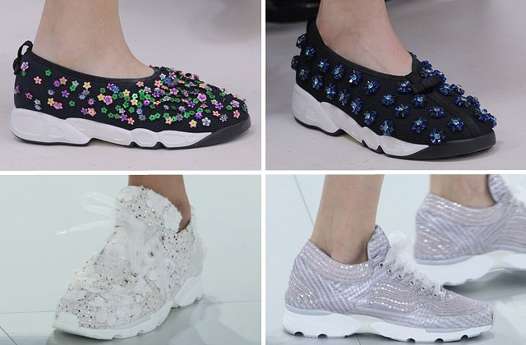 Sneakers made a surprise appearance on the haute couture runways