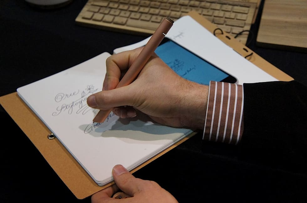 The Oree Stylograph is a smart pen made out of pure copper