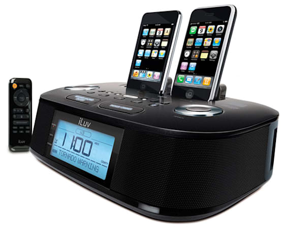 iLuv ships weather-watching iMM183 dual dock iPod / iPhone alarm clock