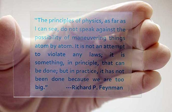 Scientist's new rewriteable 'paper' is actually made of glass or plastic