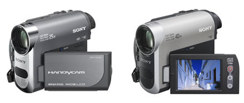 Sony announces three new Mini DV Handycams