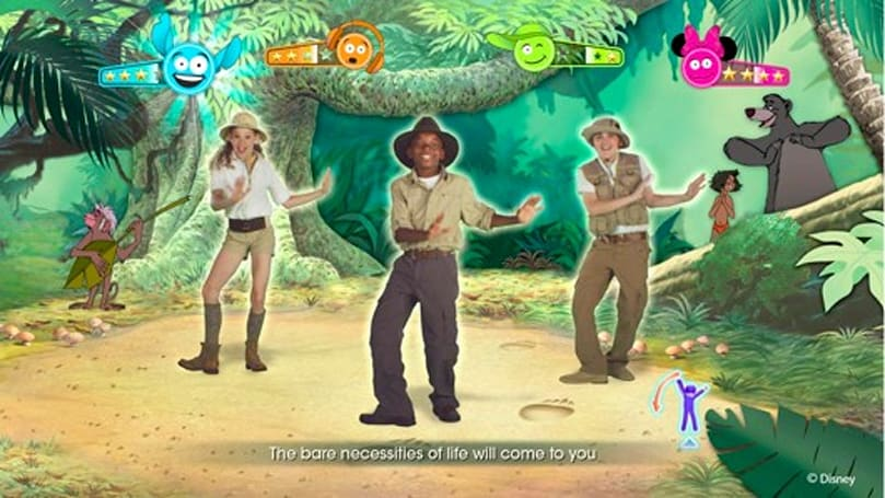 Just Dance: Disney Party features the bare necessities