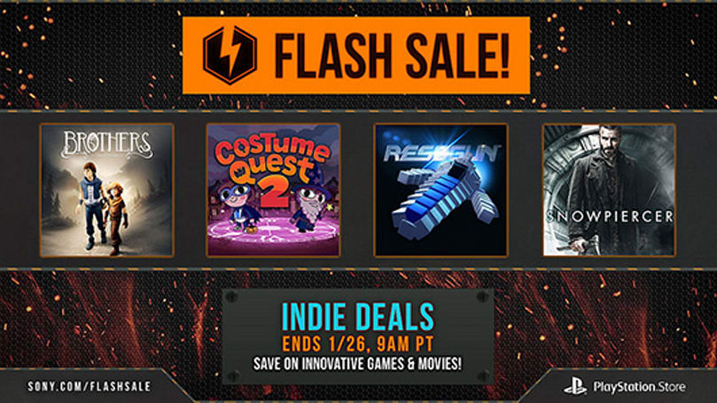 PSN Indie game flash sale: Resogun, Brothers, Shadow Warrior