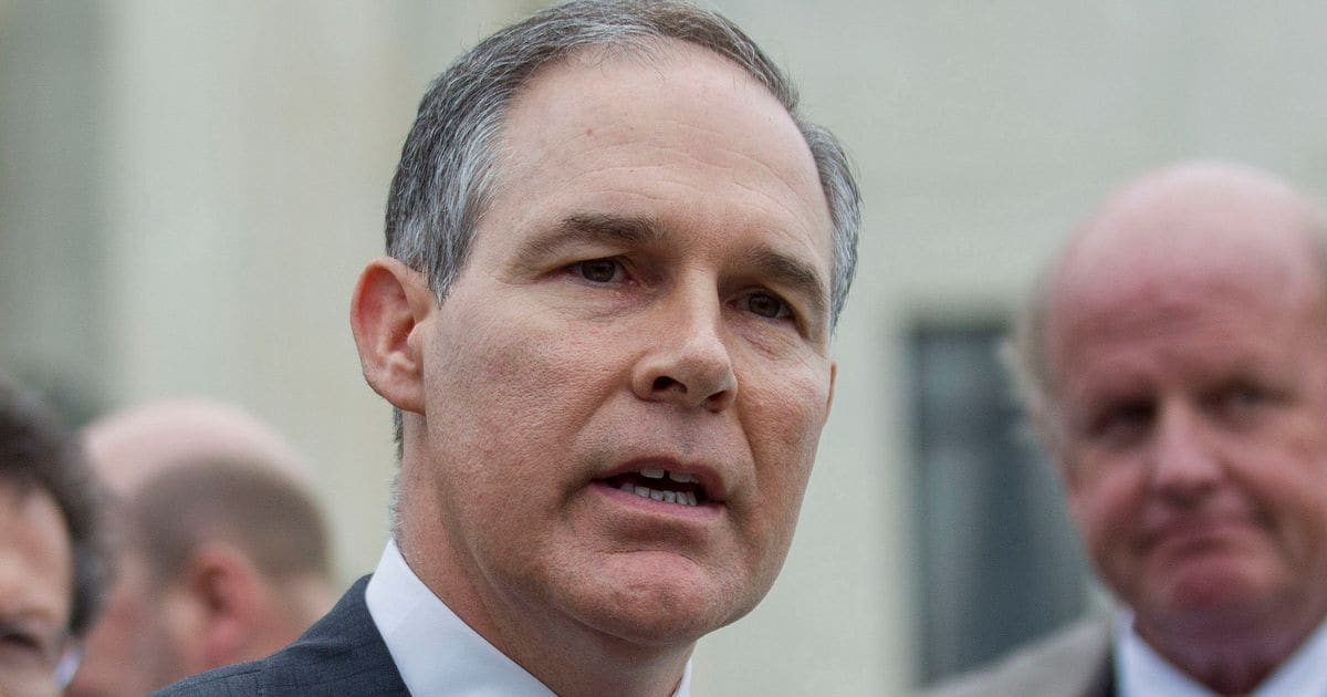 Scott Pruitt Has Sued The Environmental Protection Agency 13 Times. Now He Wants To Lead It.