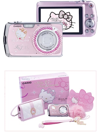 Hello Kitty limited edition Casio Exilim EX-Z2 with 12.1 meowgapixels up for pre-order