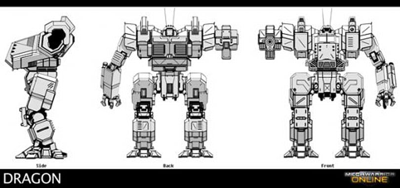 MechWarrior introduces the DRG-1N Dragon BattleMech