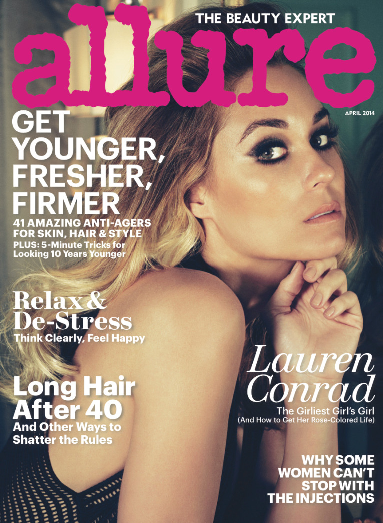 Lauren Conrad smolders on the cover of Allure