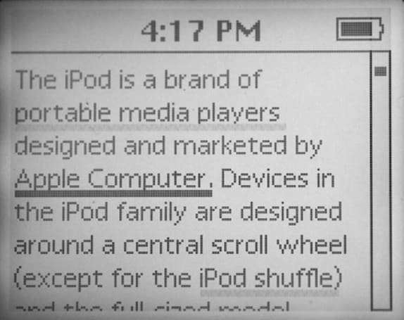 WikiPod brings (some of) Wikipedia to your iPod