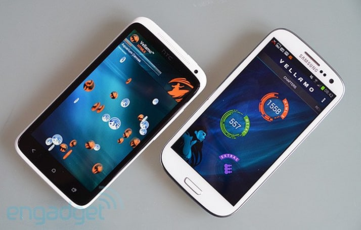 Vellamo benchmark adds CPU and memory tests, here's how it rates the One X and GS III