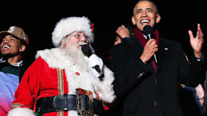 Obama and Chance the Rapper Sing Christmas Carols