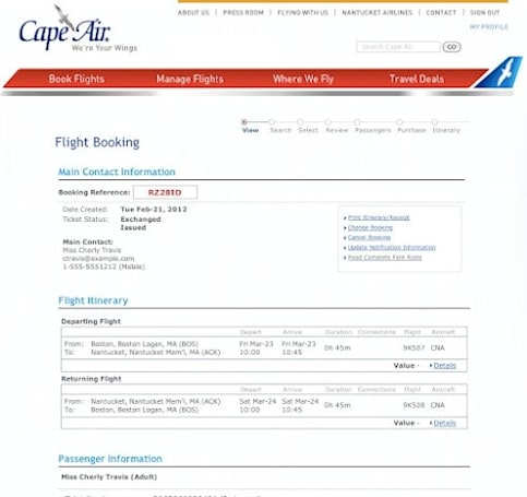 Google puts ITA acquisition to use again with new airline reservation system for Cape Air