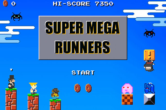 Super Mega Runners is a run through 8-bit nostalgia