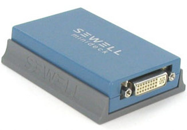 Sewell's DisplayLink-enabled USB-to-DVI / VGA / HDMI adapter does 2,048 x 1,152