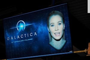 Riding on Alton Towers' Galactica VR Roller Coaster