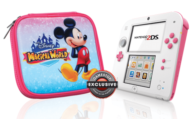 GameStop's 'peach pink' 2DS comes with a Disney case that's bibbidy bobbidy boo