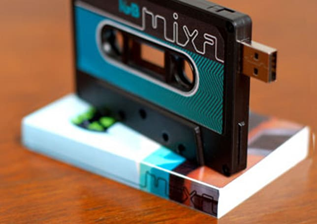 Customizable MIXA USB tape brings back the retro