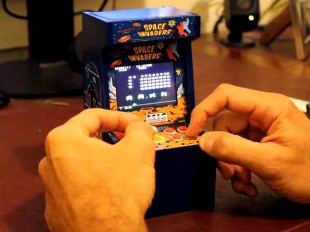 Mini Space Invaders arcade cabinet big on nostalgia, small in size