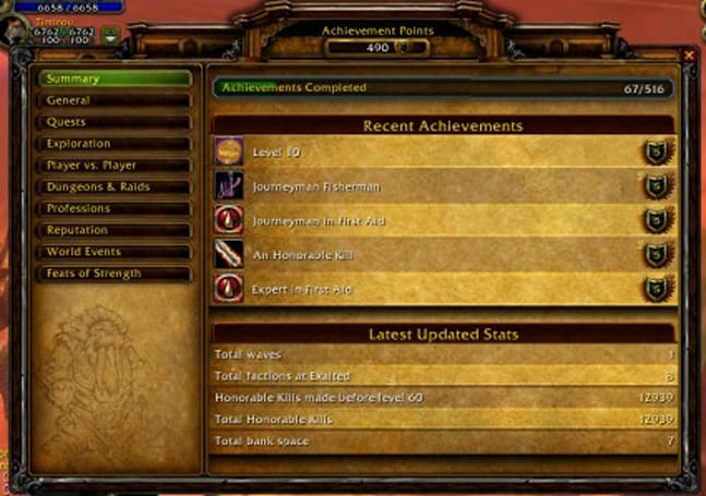 The Achievements UI: a guided tour