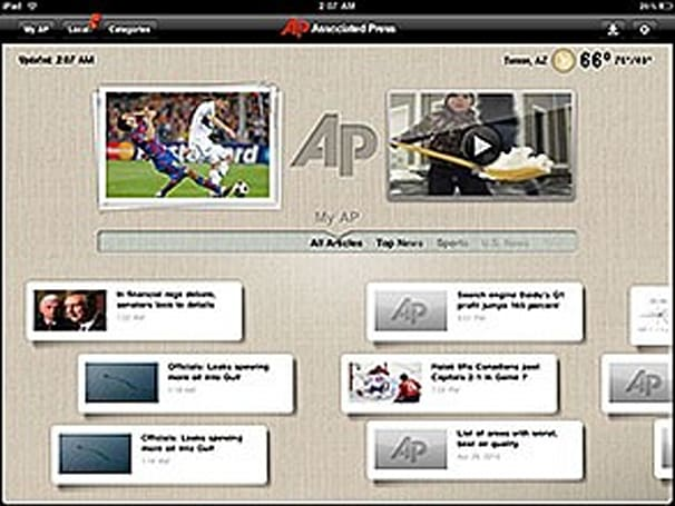 AP News for iPad a missed opportunity