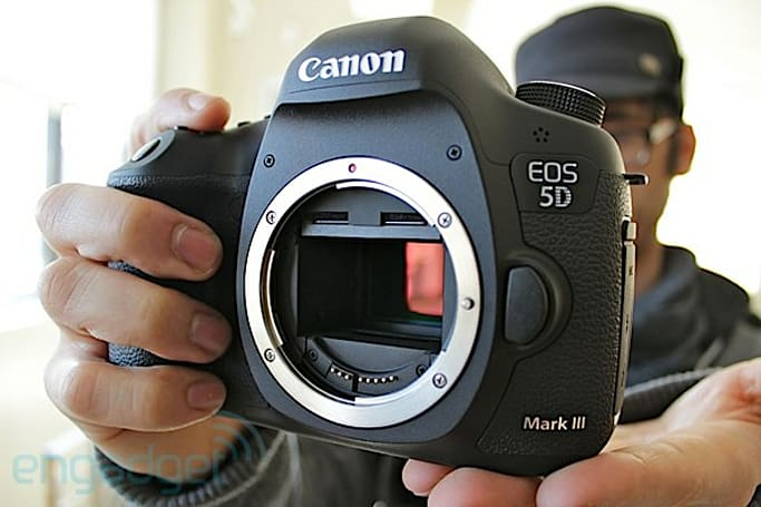 Canon announces EOS 5D Mark III: 22.3 MP full-frame sensor, 6 fps, 102,400 max ISO, 1080/30p HD, yours for $3,500 (video)