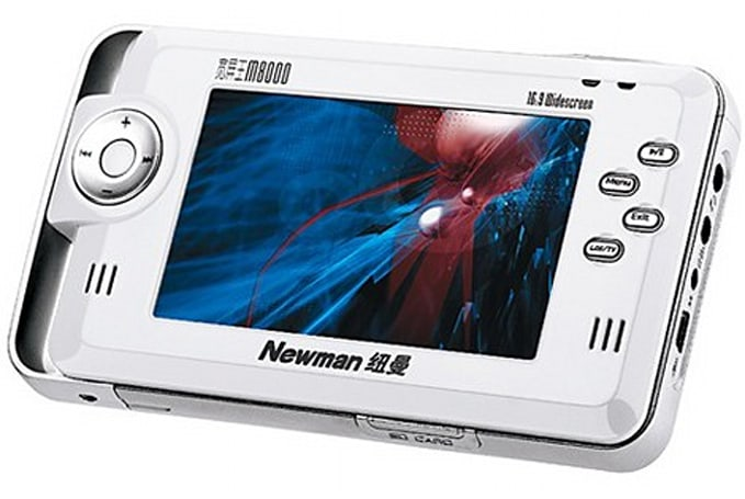 Newman's M8000 PMP: 250GB never looked so ugly
