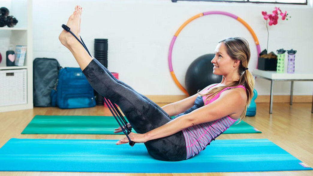 Pilates anywhere with a portable reformer