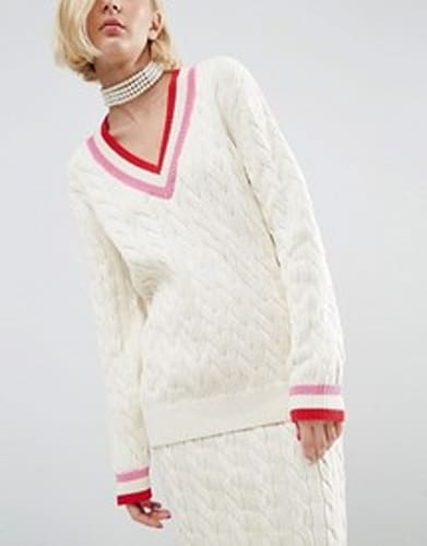 Cable Knit Cricket Jumper