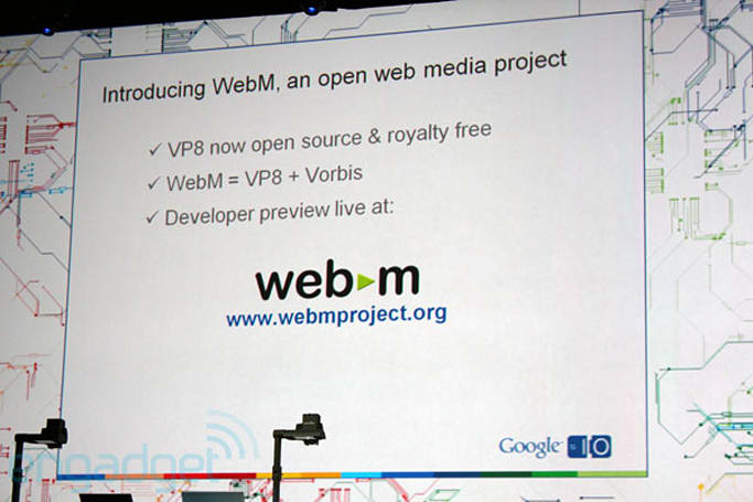 WebM VP8 specs ready for chip companies to start building hardware acceleration