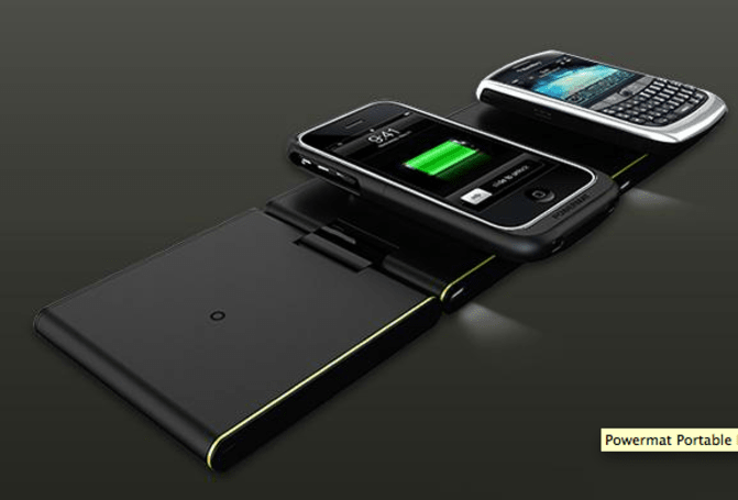 Powermat wireless chargers unleashed into the atmosphere, for real
