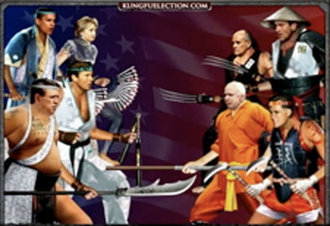 Today's most political video and game: Kung-Fu Election