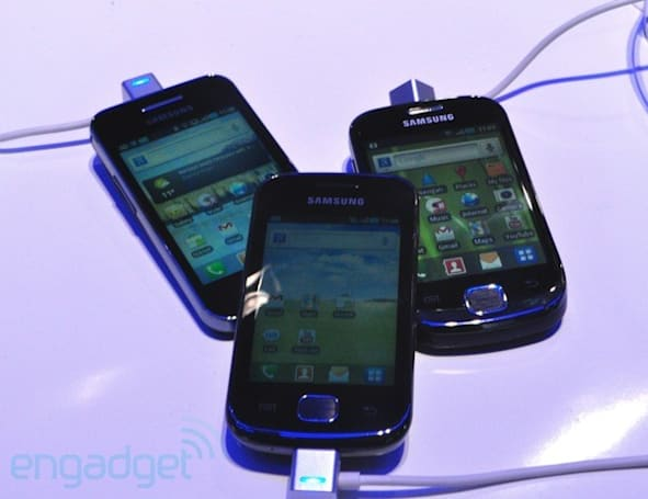 Samsung Galaxy Ace, Gio, Fit, and mini gather for a mega hands-on