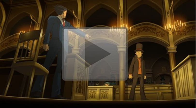 Investigate the Professor Layton vs. Phoenix Wright trailer