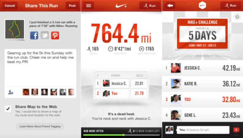 Nike+ Running iOS update adds social challenges, trash talk
